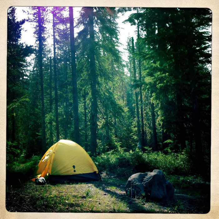 12. Gone camping.