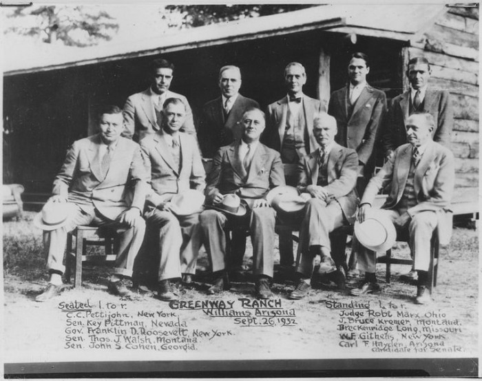 3. Here is President Roosevelt chilling with some other politicians at a Williams ranch shortly before the 1932 election.