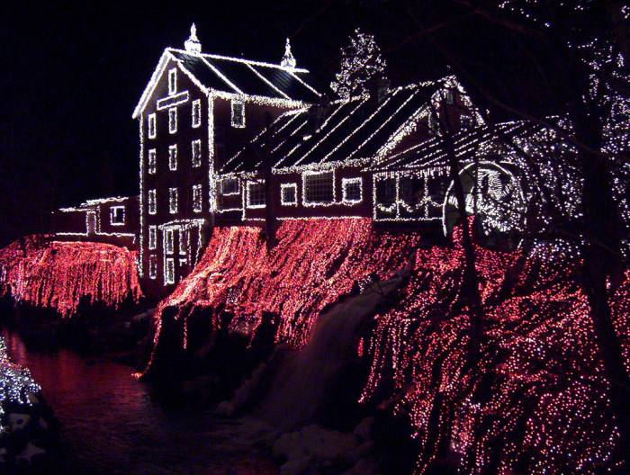 6. Also, light displays where you can get out and walk around are EVEN BETTER.