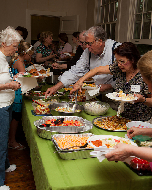 7. Pot lucks were the be-all, end-all of social events. You left feeling stuffed after trying everyone's delicious dishes.
