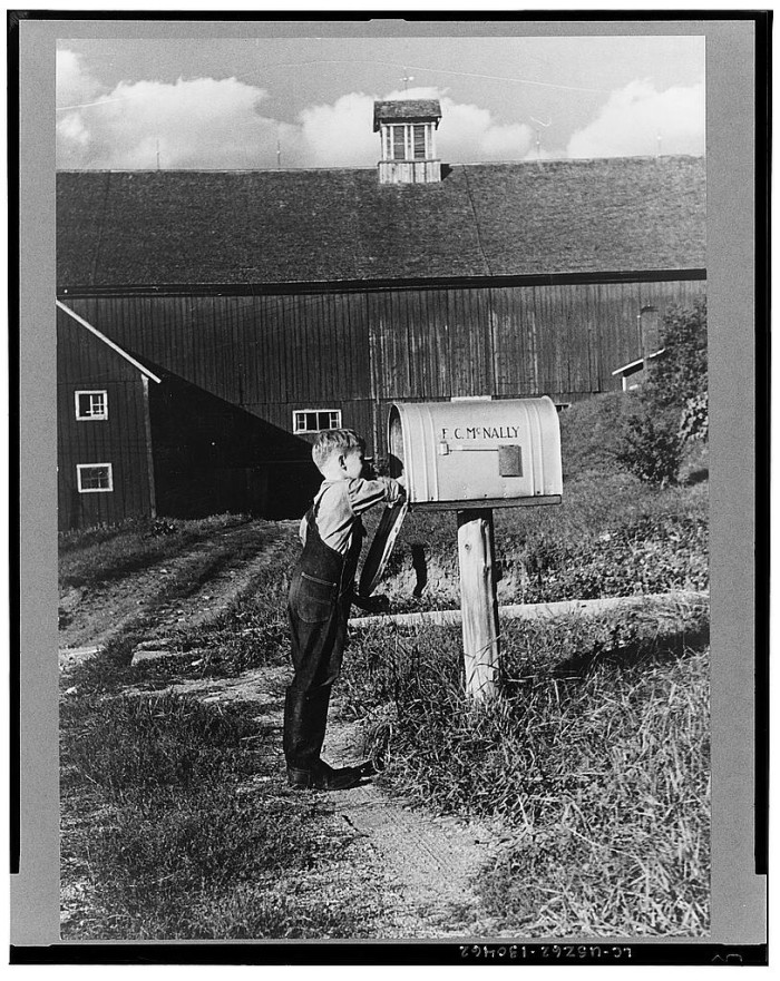 5.  Looking for the mail, McNally farm, Kirby, Vermont.