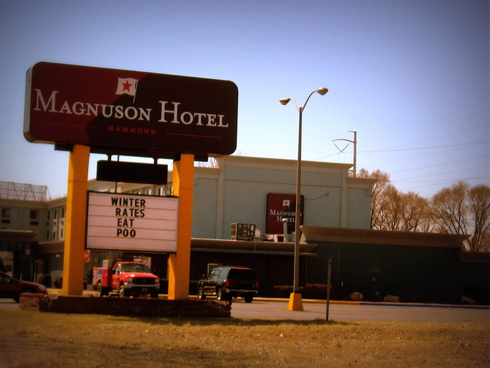 3. What message do you think this hotel in Indiana was trying to tell people?