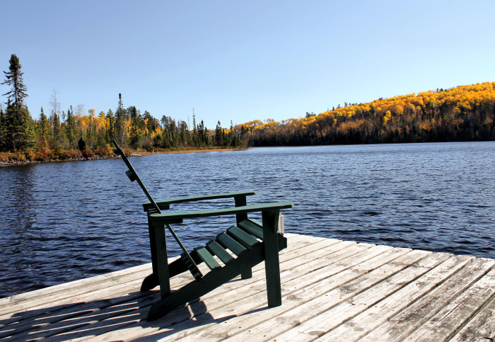 3. Grab a relaxing seat by the lake, and enjoy the Minnesota scenery.