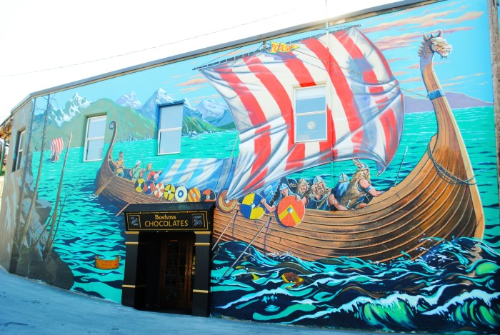 8. There are amazing Scandinavian murals to admire all over town.