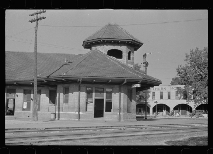 8. The train station in Tupelo featured somewhat of an ornate architecture that was typical at the time.