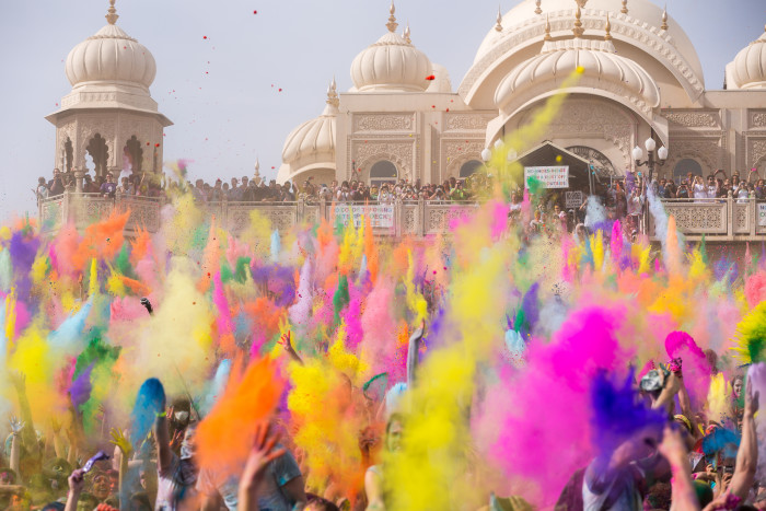 6. March: Cover yourself in color at the Festival of Colors.