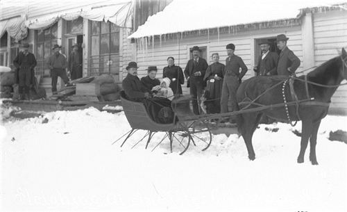"""12. """"Sleighing at Sneffles, Colo. Xmas 1896."""""""