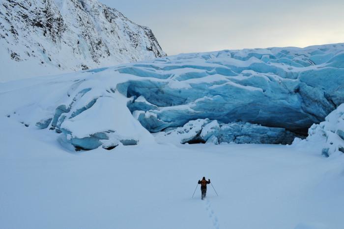 7) An ice glacier or a hidden castle?