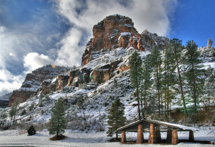 9. More proof of how well snow goes with red rocks.
