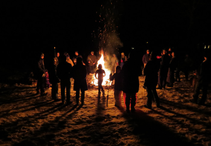 7. Big bonfires with friends and family!