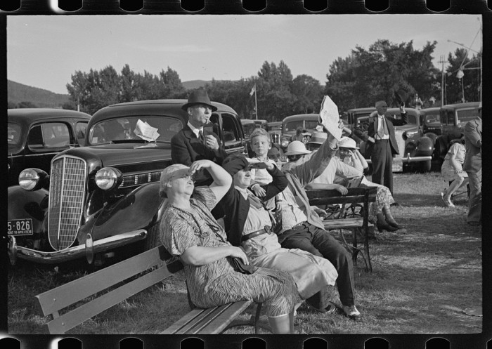 8.  Visitors at the State Fair, Rutland, Vermont.