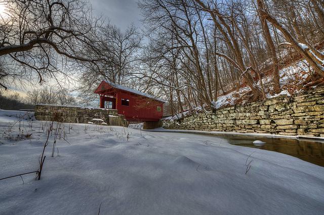 4. Admire one of Pennsylvania's covered bridges.