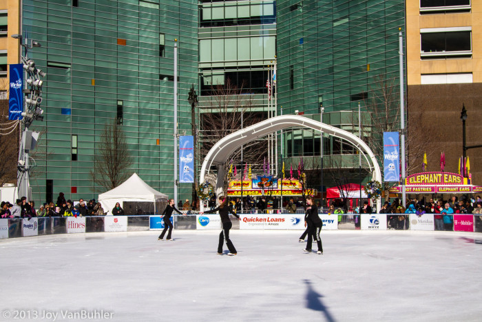 3) Outdoor ice skating.