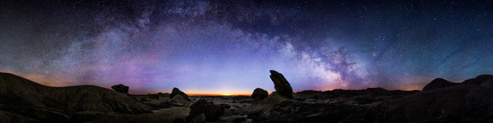 11. You actually don't really have to use your imagination to see Toadstool Geologic Park as a magical place. It just is, particularly with the galaxy stretched out behind it.