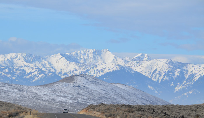 17. Rolling white hills along the Baker County Hells Canyon Scenic Byway.