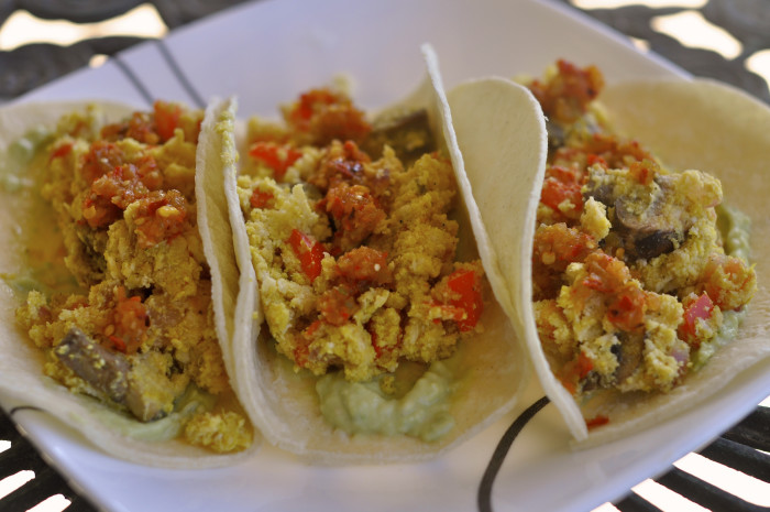 8) Breakfast tacos.
