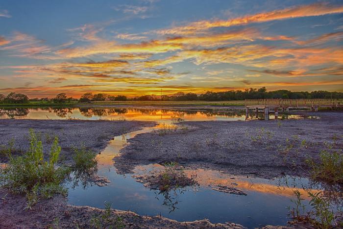 "7. ""Wetland's Sunset."""