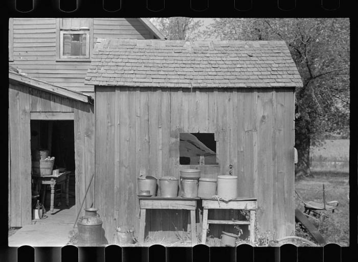 """8. """"Rear of Negro tenant farmer's home."""""""