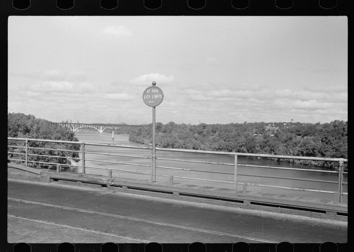 4. These are the city limits of St. Paul in Sept 1939. You may recognize this view as one we mostly speed by these days.