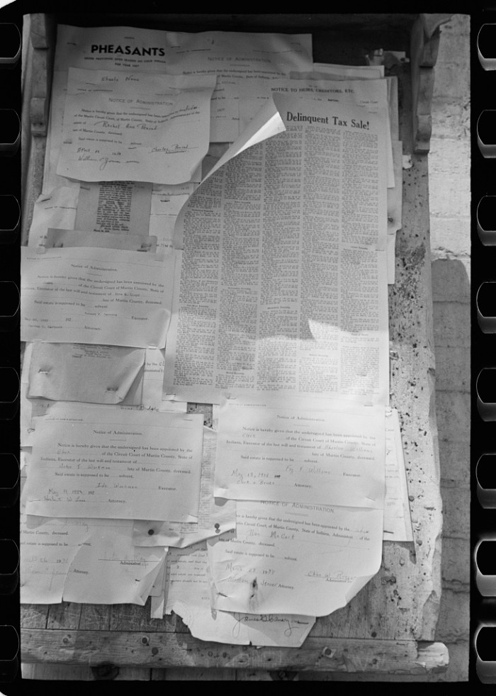 3. This is what the bulletin board at the Martin County courthouse looked like in 1938.