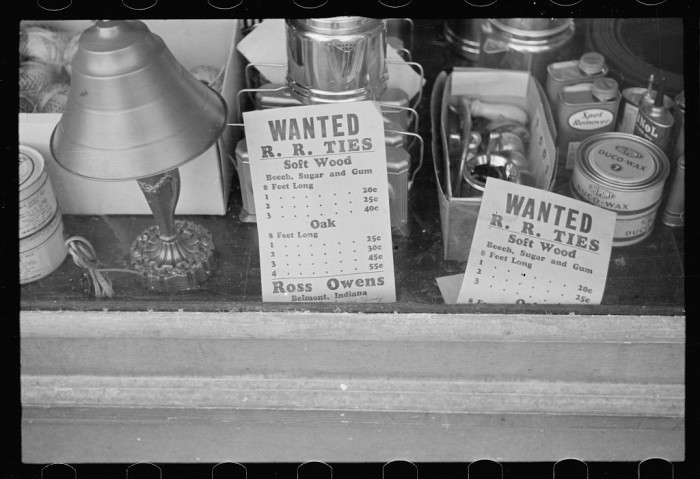 6. Someone took a picture of advertisements posted in a hardware store in Nashville in 1935!