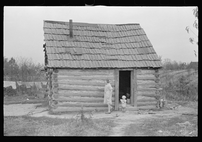 1. This housed a family of ten in Brown County in 1935.