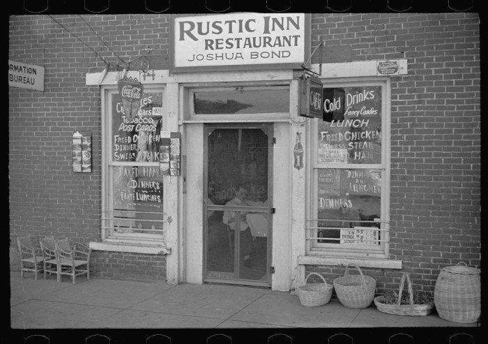 4. Check out this restaurant and store in from 1935 in Nashville, Indiana.