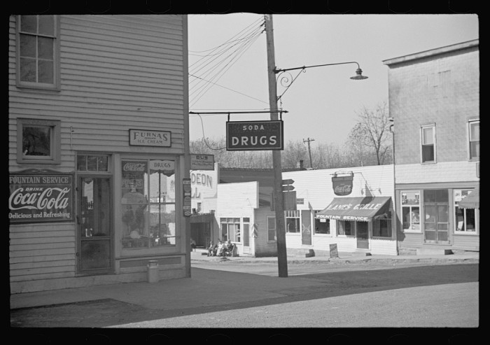 5. This one is a corner drug store also in Nashville, Indiana in 1935.