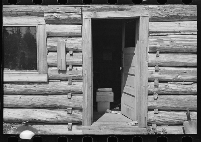 13. William Besson's log cabin near Winton has some amazing detail.