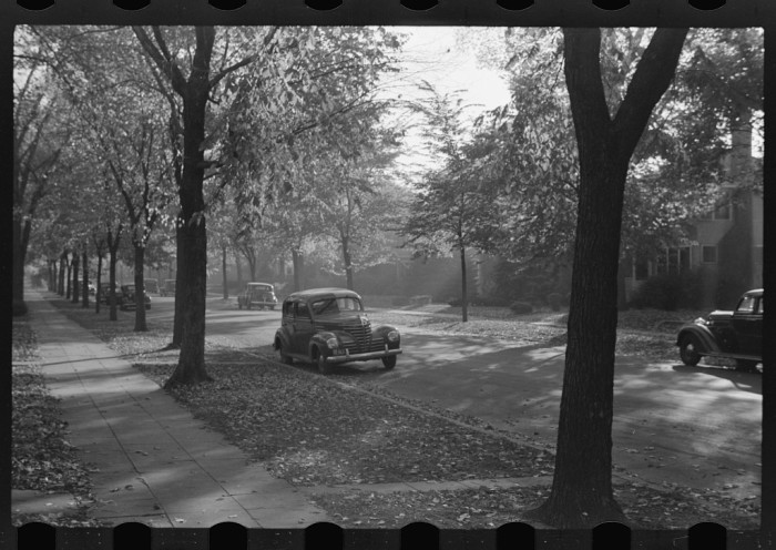 6. This is Lincoln Ave. in the fall of 1940. The fall foliage seems to be just as plentiful as it is these days.