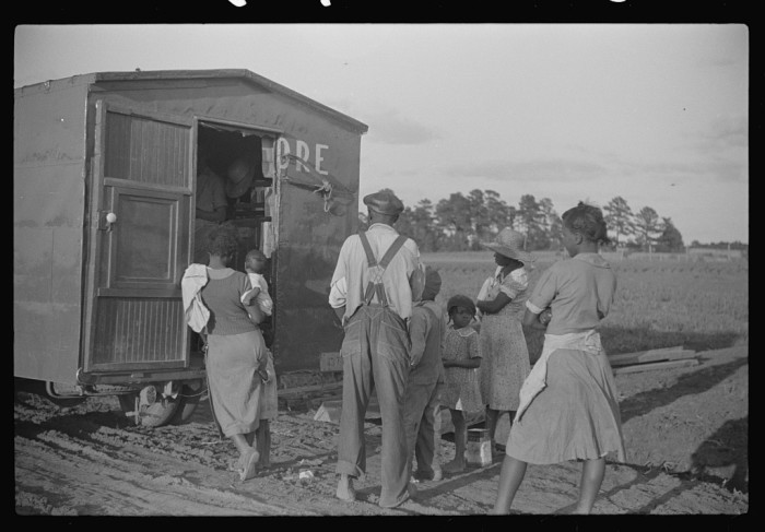 12. Rolling store that sells hardware, dry goods, drugs, and a variety of household and farming goods near Montezuma, GA - May 1939.