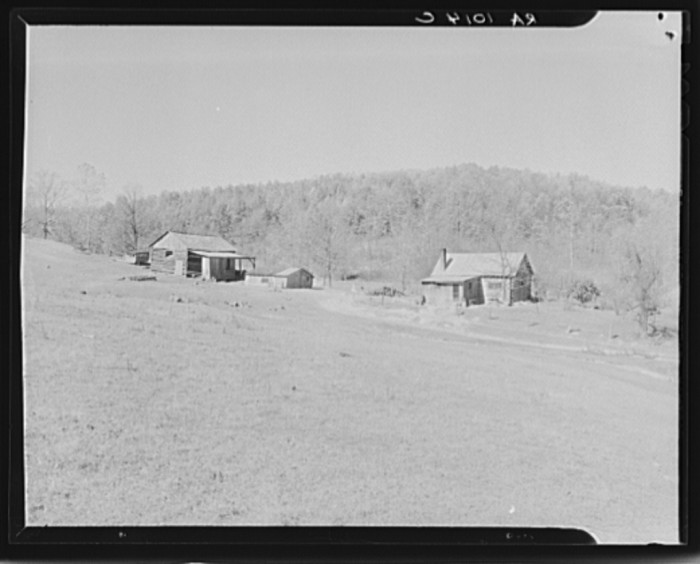 10. The picture of this gorgeous farm from 1935 was taken in Brown County.