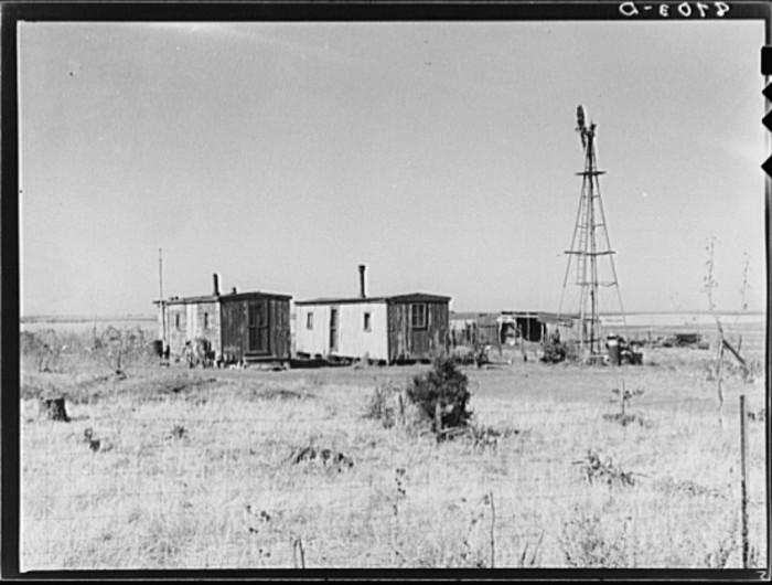 "9. ""Boxcar farmhouse. Saline County, Kansas."" (1938)"
