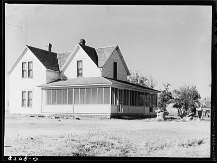 "10. ""House on farm bought by Jack Gardinier under tenant purchase program."""