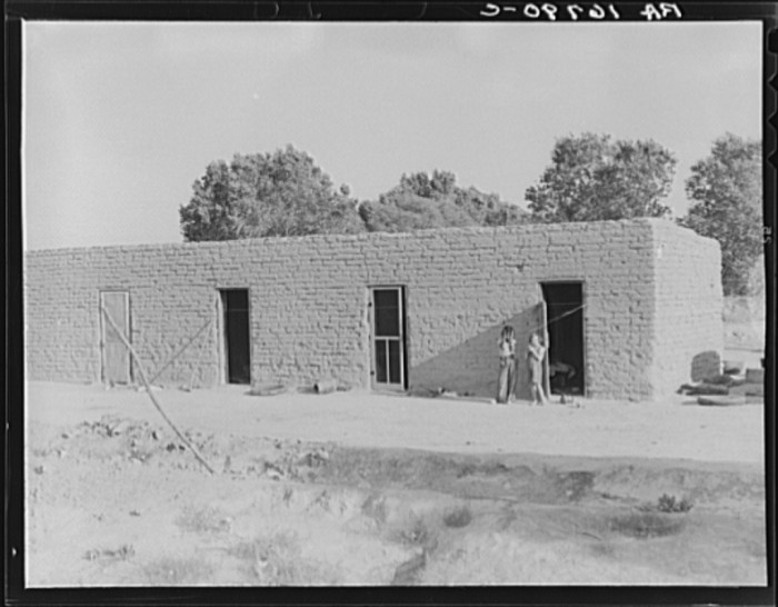 2. This photo shows what typical housing looked like for Mexican (and, in some cases, Oklahomans) farm workers in 1937.
