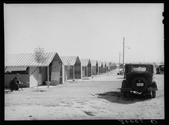 5. Here's a look at a row of metal, more permanent homes for other laborers.