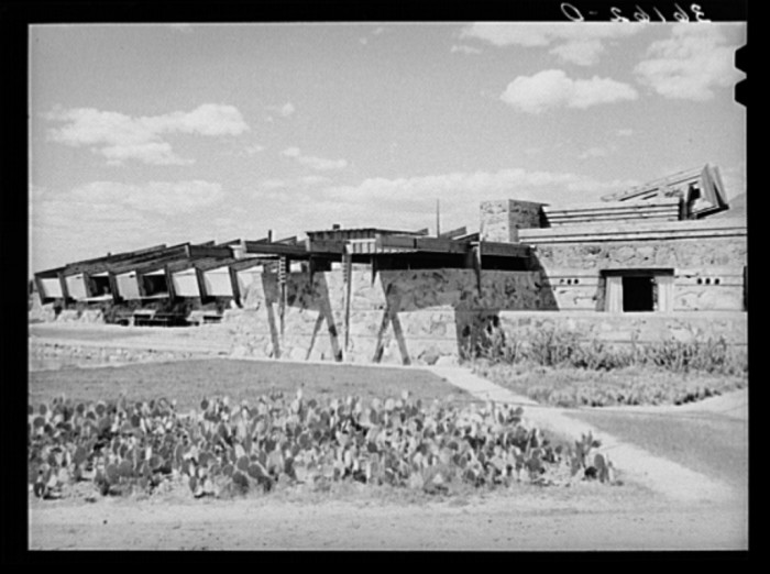 15. Here is Taliesin West in 1940, during what seems to be shortly after construction.