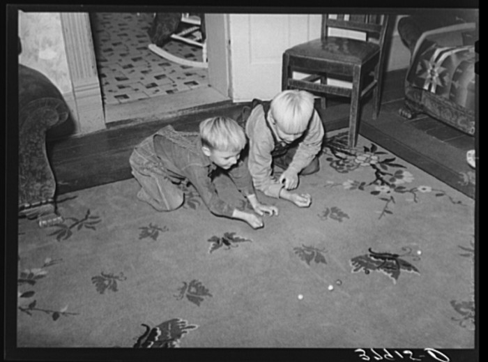 21. Playing a Game of Marbles in the Living Room, Santa Clara