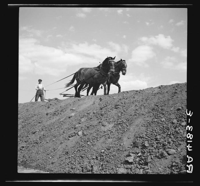 "15. ""Building gully erosion control dam. Franklin County, Kansas."" (1936)"