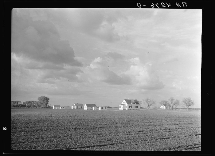 2. A charming farm sits among its expansive fields in Douglas County, 1936.