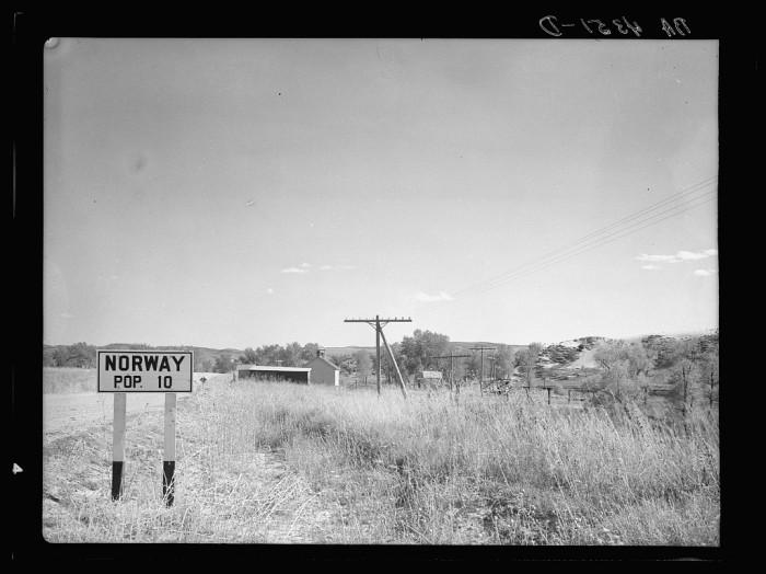 10. A vintage road sign.