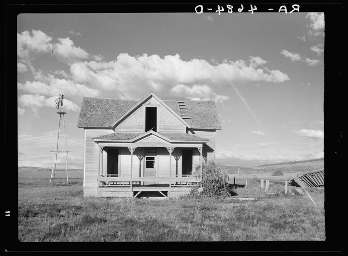 """25. """"An abandoned farmhouse in central Oregon representing years of unfruitful efforts to make things grow."""""""