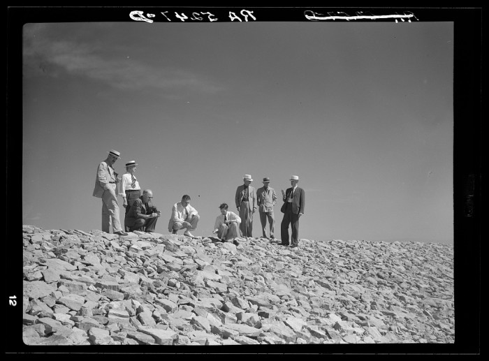 3. A drought committee inspects a dam in Chadron.
