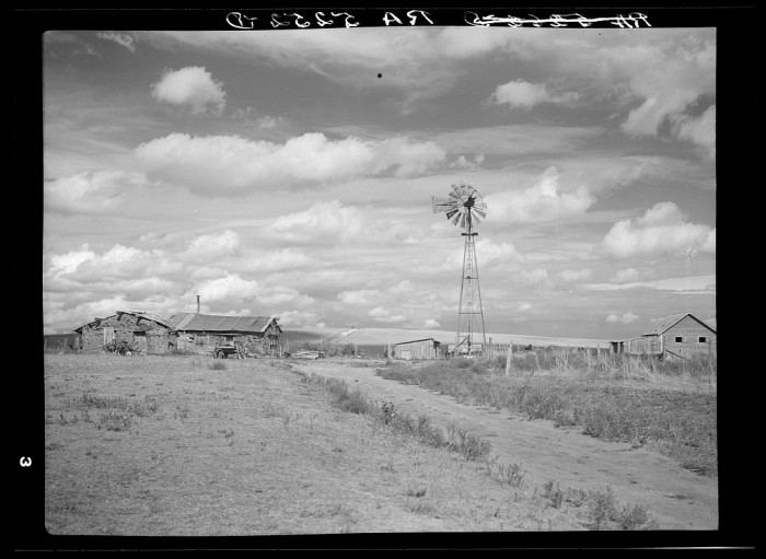 6. Sod houses stand in Alliance, 1936.