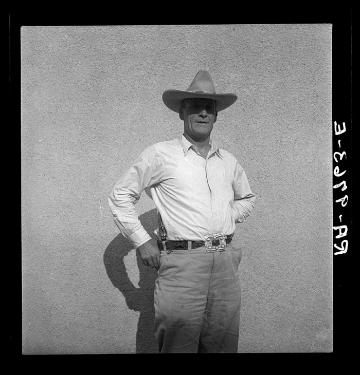 10. Here is an unnamed sheriff in Duncan in 1936.