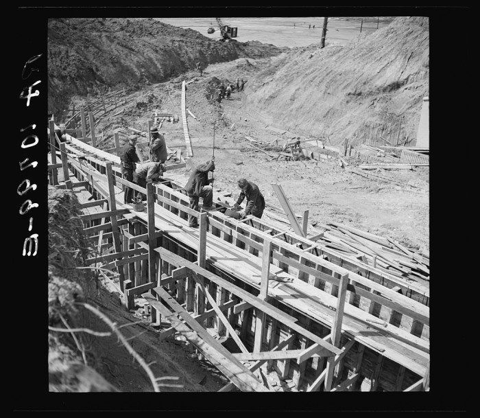 15. These construction workers are working on the Martin Company development project in 1937.