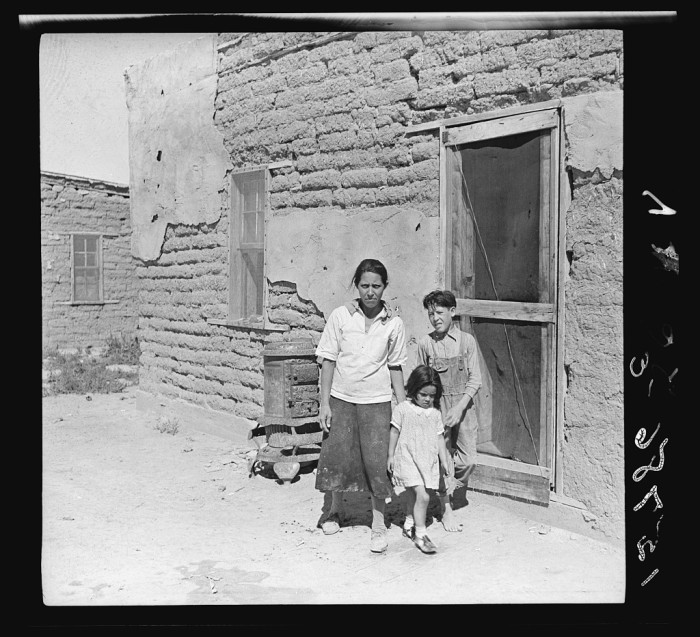 "3. ""The mother said 'I keep her dressed nice every day, because she is the only girl I've got.' Great Western Sugar Company's beet sugar workers' colony at Hudson, Colorado."" (1938)"
