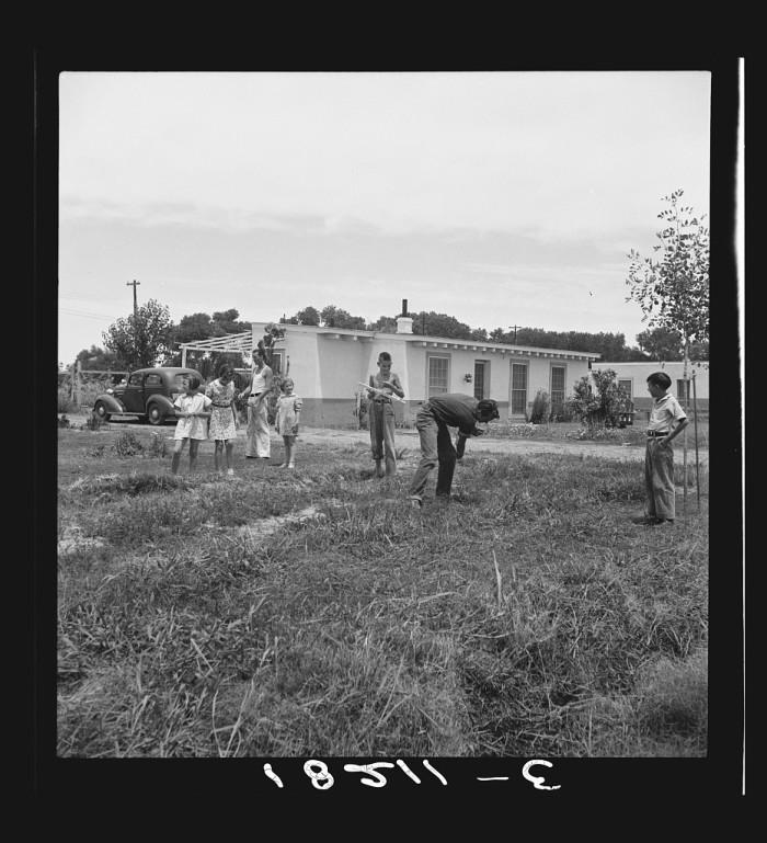 19. Here is a farming family enjoying a Sunday morning in June 1938 in Gila County.