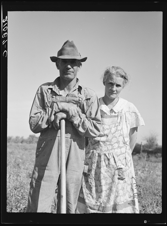 """11. """"Couple who have raised ten children on reclaimed land which they cleared twenty years ago. Irrigon, Morrow County, Oregon."""""""