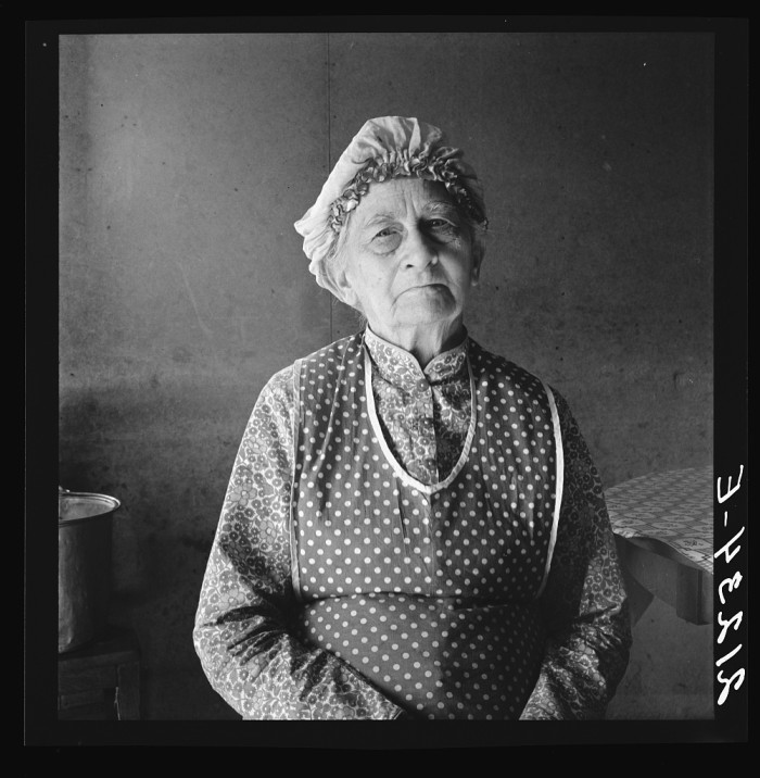 """7. """"Soper grandmother, who lives with family. FSA (Farm Security Administration) borrower. Willow Creek area. Malheur County, Oregon."""""""